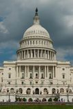 US Capitol. The building of US capitol in Washington DC on a cloudy day Royalty Free Stock Photos