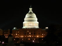 US Capitol. In Washington DC at night Royalty Free Stock Image