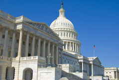The US Capitol. The House of Representative and the Dome of the Capitol Building Royalty Free Stock Photography