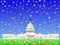 US Capitol in Autumn Royalty Free Stock Images