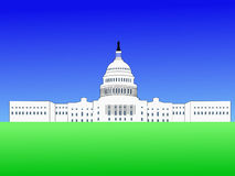 US capitol building vector illustration