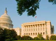 US Capitol building. A view of the US House of Representatives side of the United States Capitol, Washington, DC in early evening sunlight Royalty Free Stock Photography