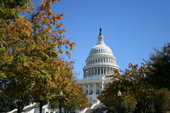 US Capitol building in autumn Stock Photos