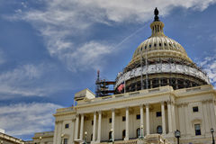 US Capitol Building Dome Restoration Stock Photography