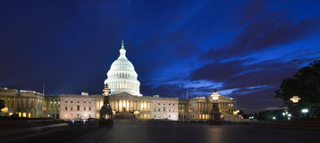 US Capitol Building Eastern Facade At Night - Wash Royalty Free Stock Photo