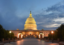 US Capitol building eastern facade at night - Wash Royalty Free Stock Photos