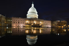 US Capitol building eastern facade at night - Wash Royalty Free Stock Image