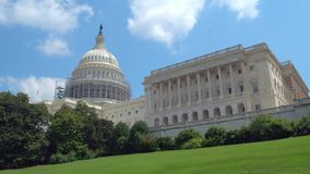 US Capitol Building lawn stock video footage