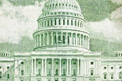 US Capitol Building Macro. On the back of the fifty dollar bill Royalty Free Stock Image