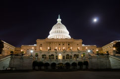 US Capitol Building in moonlight Stock Photography