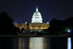 US Capitol building at night. Night view on the US Capitol building Royalty Free Stock Photo