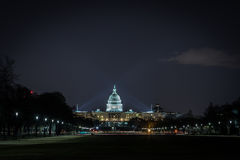 US Capitol Building at Night Royalty Free Stock Image