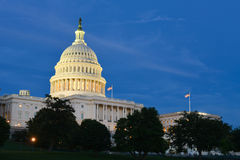 US Capitol building at night - Washington DC Royalty Free Stock Photo