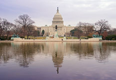 US Capitol Building and Reflection Stock Image