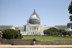 US Capitol Building in restoration Royalty Free Stock Photo