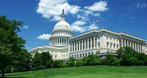 US Capitol building at summer day Royalty Free Stock Photo