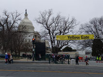 US Capitol Building, 58th Presidential Inauguration Entrance Gate, Inauguration of Donald Trump, Women`s March, Washington DC, USA Stock Images