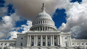 US Capitol Building with Time Lapse Storm Clouds Royalty Free Stock Photos