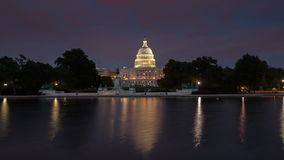 US Capitol Building timelapse. Washington DC. Zooming view stock video