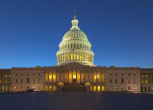 US Capitol building at twilight Royalty Free Stock Image