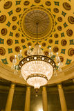 US Capitol Building Underground Crypt Chandelier Architecture In Royalty Free Stock Photography