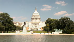 The US Capitol Building. In Washington, DC stock footage
