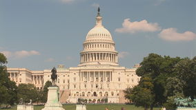 The US Capitol Building. In Washington, DC stock video footage
