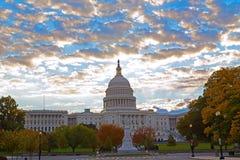 US Capitol building, Washington DC. Autumn colors at dawn around US Capitol building in Washington DC Stock Photography