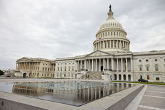 US Capitol Building. Washington DC, US Capitol Building in a cloudy day Royalty Free Stock Photos