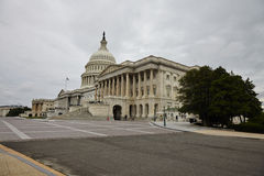 US Capitol Building. Washington DC, US Capitol Building in a cloudy day Stock Image