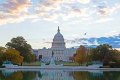 US Capitol building, Washington DC. Colorful Autumn on Capitol Hill in Washington DC Royalty Free Stock Images