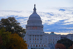 US Capitol building, Washington DC. US Capitol building at dawn in autumn colors Stock Photography