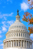 US Capitol building, Washington DC. The dome of US Capitol building at autumn dawn Royalty Free Stock Photos