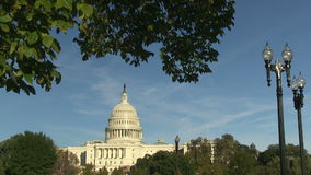 The US Capitol Building in Washington, DC. stock video