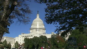 The US Capitol Building in Washington, DC. stock video footage