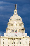 US Capitol dome. US Capitol over stormy sky, Washington DC Royalty Free Stock Photos