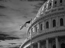US Capitol Dome Black and White Stock Photo