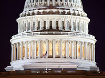 US Capitol Dome Closeup Night Washington DC Royalty Free Stock Images