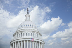 US Capitol Dome with Clouds Stock Photography