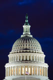 US Capitol dome in cloudy twilight, Washington DC Royalty Free Stock Images