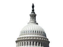US Capitol Dome Isolated on White Stock Images