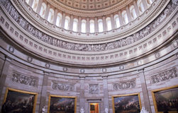 US Capitol Dome Rotunda Paintings Washington DC. Rotunda, US Capitol Dome Paintings Close Up Inside Washington DC Stock Image
