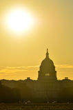 US Capitol dome silhouette, Washington DC Stock Images