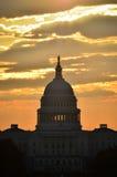US Capitol dome silhouette, Washington DC Stock Photos