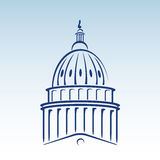 US Capitol Dome Vector Illustration Stock Photo