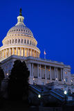 US Capitol at Dusk. The dome of the US Capitol glows in the dusk sky Stock Images