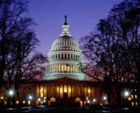 US Capitol at dusk, Washington DC Royalty Free Stock Photo