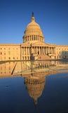 US Capitol Mirror Reflection Washington DC Stock Image