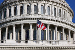 US Capitol and Flag Royalty Free Stock Photos