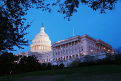 US Capitol hill building panorama, Washington DC Stock Photo